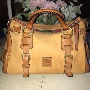 Dooney and Bourke Honey Suede Tan Leather Satchel